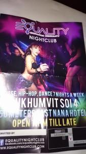 バンコクで貰ったナイトクラブのビラ