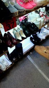 センタンの靴売り場