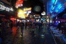 雨のウォーキングストリート